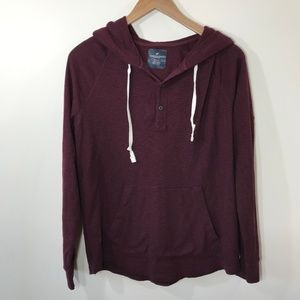 American Eagle Maroon Pullover Sweatshirt Size M